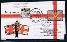 97789) AUA Olympiade So-LP Wien - Athen 13.8.2004, Aerogramme Gibraltar R!