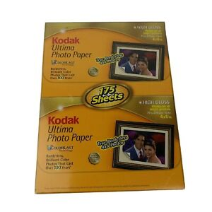 Kodak Ultima Picture Paper Photo 175 Sheets 4x6 High Gloss Colorlast Borderless