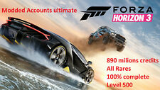 Forza Horizon 3 Modded Accounts ultimate save aio All Rares and 890m credits
