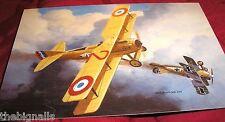 WWI Aircraft SPAD VII shooting down an Albatros D III  Large Postcard