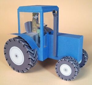 A4 Card Making Templates for 3D Tractor & Display Box by Card Carousel