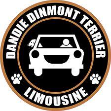 """Limousine Dandie Dinmont Terrier 5"""" Dog Sticker"""
