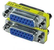 Lot10 DB15 Game/Joystick/Mac Gender Changer/Coupler Cable Adapter Female-F$SHdis