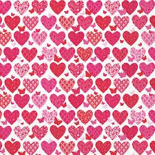 20 pcs Heart Print Napkins Birthday Valentines wedding favor cocktail serviettes