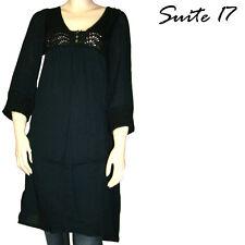 Robe lainage noire SUITE 17 femme