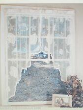 Seashells Sea shell Starfish Lace Coastal White Kitchen Curtain Swag Set