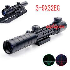 3-9X32EG Crosshair Tactical Rangefinder Reticle Scope Sight Thr 20mm Rail Rifle