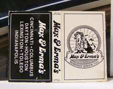 Rare Vintage Matchbook Cover J2 Cinncinati Columbus Dayton Ohio Max Erma's Place