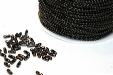 15ft Iron Gunmetal 1.5mm Ball bead Chain links jewelry making 1-3 day Shipping