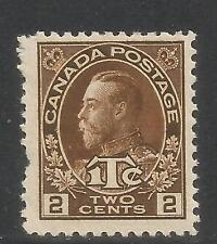 Canada 1916 King George V 2c + 1c brown War Tax (MR4) MNH