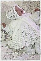 HAZEL * PAPER KNITTING PATTERN * Preemie-9 Months Reborn/Baby Honeydropdesigns
