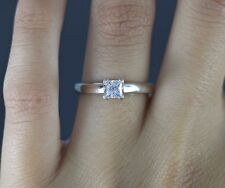 $2,650 The Leo Diamond 14K White Gold Platinum 0.49ct Princess Engagement Ring