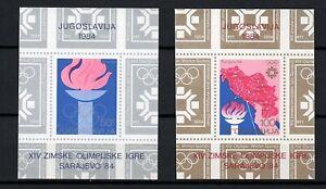 Yugoslavia, desde 1984, 2 bloques, Michel-N° bloque 24-25 en nuevo **/MNH (K266)