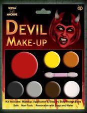 Devil Make Up Set Zombie Scary Face Paint White Red Paints Halloween unisex set