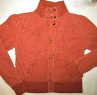 Vintage Mossimo Womens Junior's Size Jacket Corduroy Burnt Orange 1980's Style