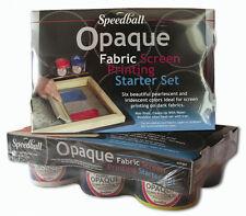 Speedball Opaque Tissu sérigraphie starter set