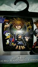 Kingdom Hearts: Keyhole Mirco Rachel Blanket/Throw *Brand New*