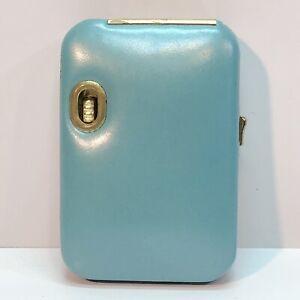 Vintage Buxton Leather Key-Tainer Key Holder Blue With Flashlight