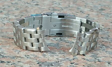 22mm CURVED END HEAVY BRUSHED STAINLESS STEEL BRACELET FAT PINS Seiko 7000 7002