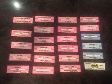 Prince Lot of 23 Original Jukebox Title Strips New Unused