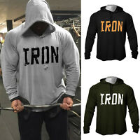 Men's Fitness Workout Print Bodybuilding High Quality Raglan Hoodies Sweatshirts