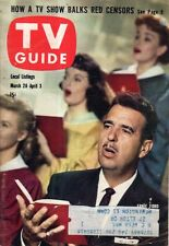 1959 TV Guide March 28 -Ernie Ford; Naked City; Mary Martin; Dodge City KS;Barry
