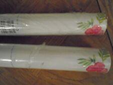 Brand New 2 rolls Laura Ashley Tropical Flowers Cerise Wall paper Same Batch No