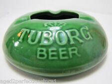Old Tuborg Beer Ashtray porcelain liquor store bar advertising tray Denmark