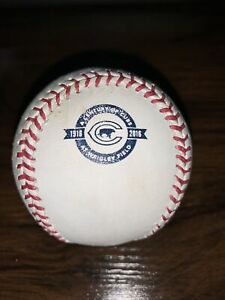 Chicago Cubs 2016 Game / BP Used Logo Baseball World Series Wrigley Field 100th
