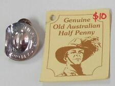 New Silver Halfpenny Slouch Hat Badge