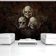ALCHEMY Vlies Fototapete Totenkopf Skull Gothic Skelett Schädel Fantasy 485