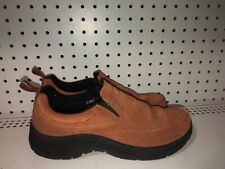 L.L. Bean Womens Suede Slip On Moccasins Slippers Loafers Size 8 M Brown