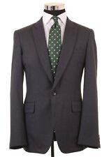 Comme Des Garcons Homme Plus Blue Metallic Flecked Glitter SILK Wool Jacket M