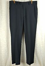 Covington Dress Pants Dark Gray Flat Front Men's Size 34x32 Inventory: F-0039