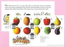Royal Mail 2003 FDC - Fun FRUIT & VEG (with Stickers) - Shs PEAR TREE, DERBY