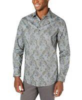 Tasso Elba Mens Shirt Gray Size XL Button Up Loreti Paisley Print $59 #212