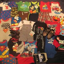 NWT Boy 's Clothes Lot 34p Baby 3 6 9 12m Summer Fall Top Pants Set Onsie Boots