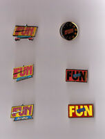 pin's radio Fun Radio (existe en 6 versions au choix)