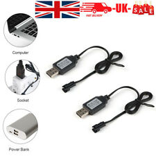 More details for 2pcs 6v ni-mh battery charger usb charging cable sm 2p plug for rc car battery