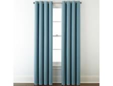 Liz Claiborne Quinn Basketweave Room-Darkening Grommet Top Single Curtain Panel