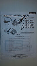 Sharp md-m11 h a z service manual original book digital mini disk recorder