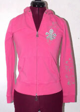 BCBG Max Azria Womens Sweater Small Hoodie Pink Jacket Zipper Cardigan Winter