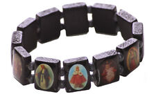 Traditional Twist- Religious Black Wooden Rosary Jesus Bracelet(A12/zx175)