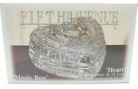 Fifth Avenue Crystal Heart Music Box Trinkets Rings (New)