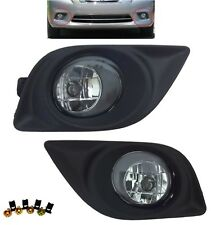 REPLACEMENT FOG LIGHT SET CLEAR LAMPS BEZELS FOR 2012-2014 NISSAN VERSA