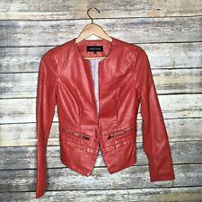 Black Rivet Faux Leather Blazer Vegan XS Blazer Red Moto Jacket candy apple