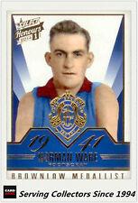 2014 Select AFL Honours Brownlow Gallery Card BG6 Norman Ware (Bulldogs)