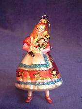 Hand Blown Glass Clara Holding the Nutcracker Holiday Ornament