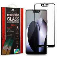Full Coverage Tempered Glass Screen Protector/Black for GOOGLE Pixel 3 XL