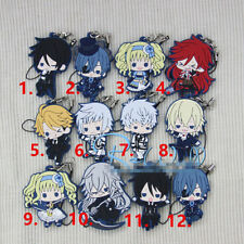 Tt490 Hot Anime Black Butler Rubber Keychain Key Ring RARE Straps Cosplay AA 6
